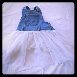 Handmade 12M Denim Tutu Dress